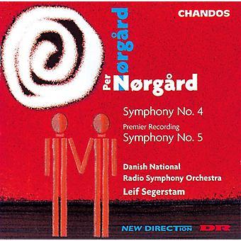 P. Norgaard - Per N Rgard: Symfonier nr 4 & 5 [CD] USA import