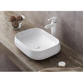 Lavabo da appoggio in ceramica bianca 56x42 - lb806w