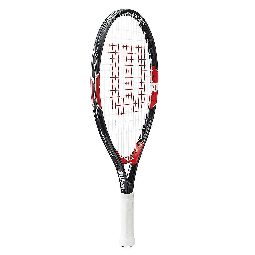 Wilson Federer Junior Tennis Racket Racquet Black/Red - 25