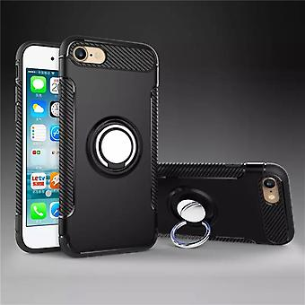 Iphone 7/8 hybrid armor shell magnetic case black