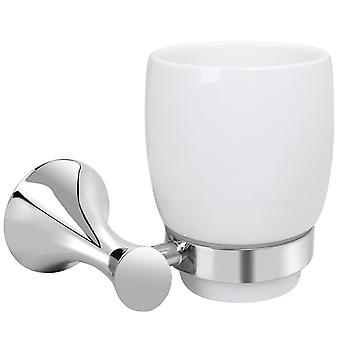 TRIXES Toothbrush Holder Deluxe Bathroom Accessory Chrome Modern Design