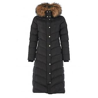 Holland Cooper Faux Fur Longline Glacier Puffer Coat