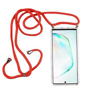 Telefoon keten voor Samsung Galaxy Note 10 plus-smartphone ketting geval met band-snoer met geval te hangen in roze