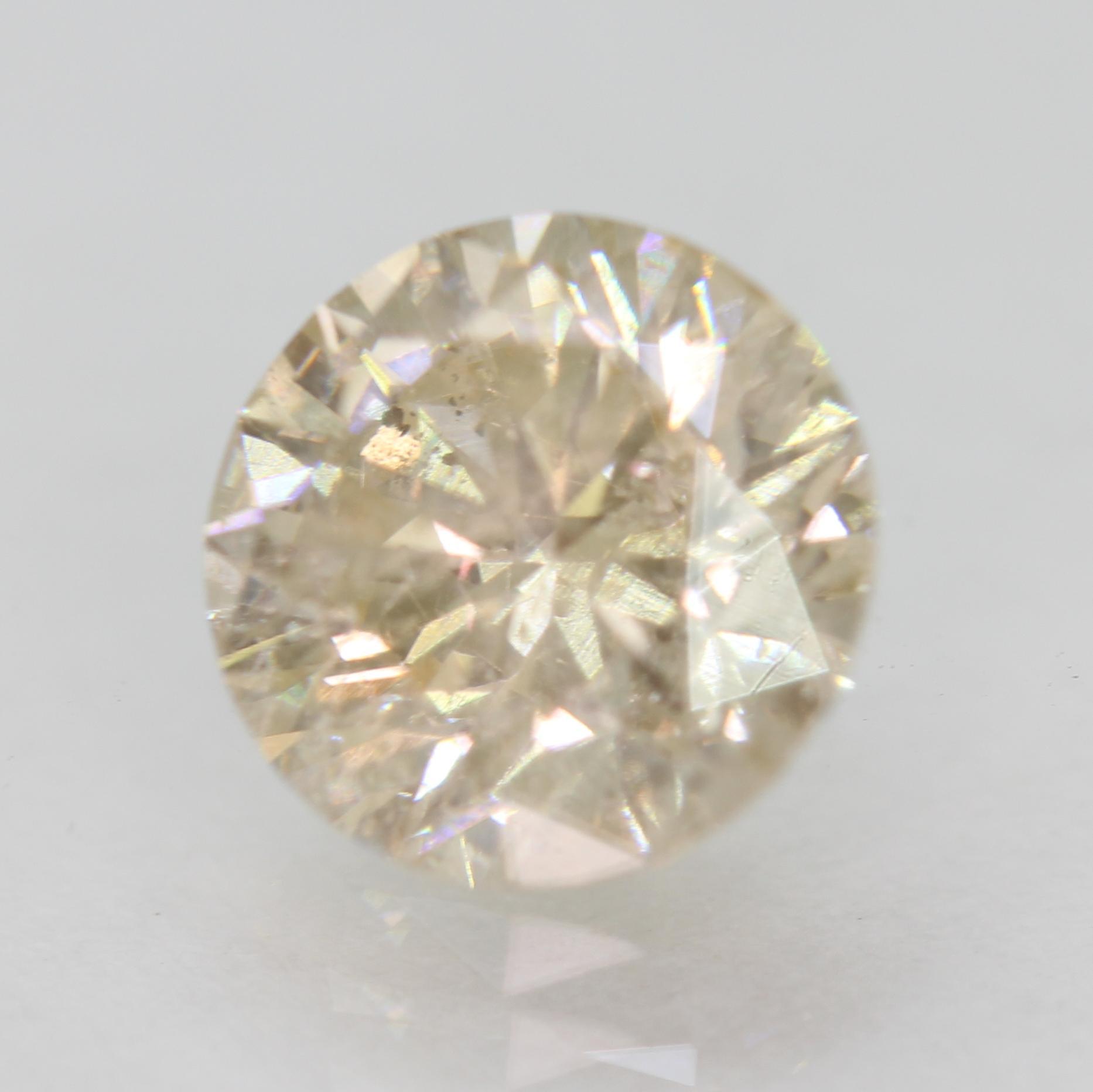 Certified 1.65 Carat L SI2 Round Brilliant Enhanced Natural Loose Diamond 7.45mm
