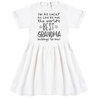 I'm As Lucky As Can Be Best Grandma belongs to me! Baby Dress
