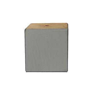 Pătrate mici gri picior mobilier din lemn 6 cm