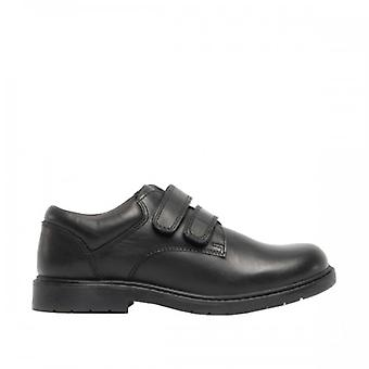 Roamers Boys Twin Touch Fastening Casual Leather Shoe