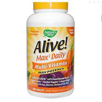 Lebendig! Max Potenz Multi-Vitamin Kein eisenhinzugefügtes Eisen (180 Tabletten) - Nature's Way