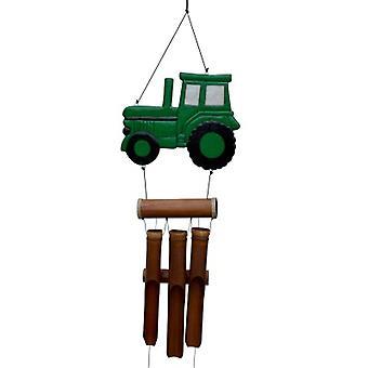 Carillon vert de vent de bambou de tracteur