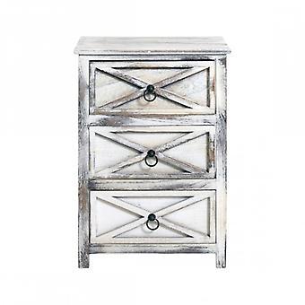 Rebecca meubelen kist van lades kabinet badkamer Vintage shabby 3 lades kamer zitplaatsen huis