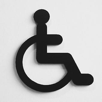 Disabled Wheelchair Door Sign in Black Acrylic