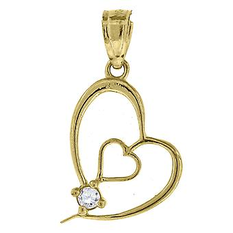 Measures 20.8x1 10k Yellow Gold Unisex Cubic Zirconia Dc Lady Of Guadalupe Religious Charm Pendant