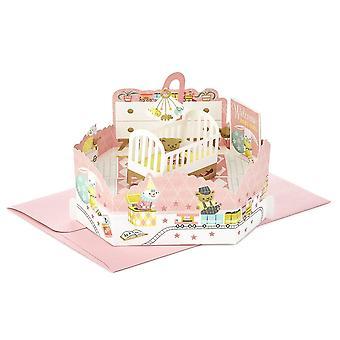Hallmark Paper Wonder Baby Girl Pop Up 3d Birthday Card 25522166