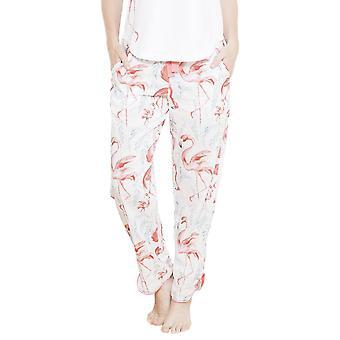 Cyberjammies 3654 Frauen Grace weiß Motiv Pyjama Pyjama Pant
