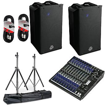 Wharfedale Pro Wharfedale Typhon Ax12 And Mixer Pa System Bundle