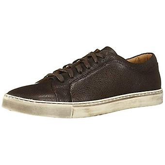 Brothers United Men's Leather Luxury Lace Up Brushed Sole Sneaker