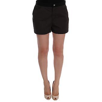 Dolce & Gabbana Gray Cotton Crystal Shorts