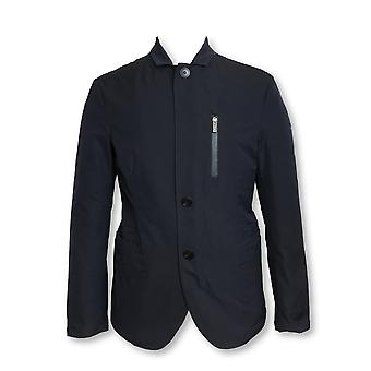 Armani Collezioni raincoat in navy with quilted inner lining