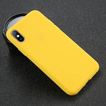 USLION iPhone 8 אולטרה-לים סיליקון מקרה TPU כיסוי מקרה צהוב
