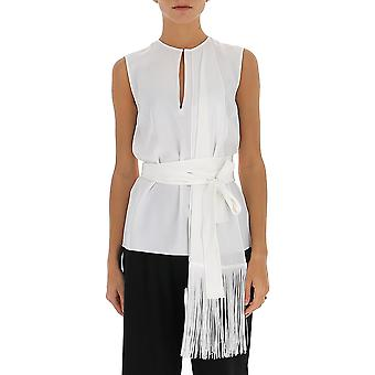 Victoria Beckham 2120wtp000750 Women's White Polyester Top