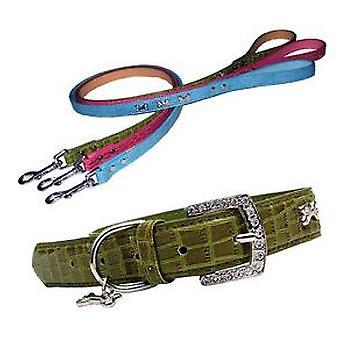 Freedog хромированные кожаный цепи 60 см ассорти из цветов