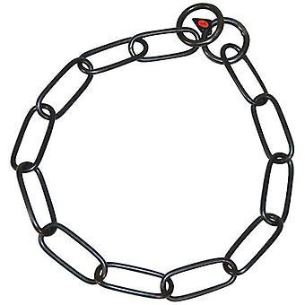 HS Sprenger Eslabon lange halsketting roestvrij staal zwart 67 Cm