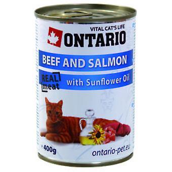Ontario Cat Beef/Saumon/Sunflower Oil  (Chats , Nourriture , Pâté)