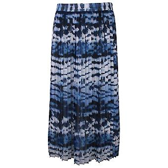 Just White Shades Of Blue Elasticate Waist Pleated Skirt
