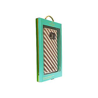 Kate Spade Flexible Hardshell Case for Galaxy Note 5 (Gold Diagonal Stripe)