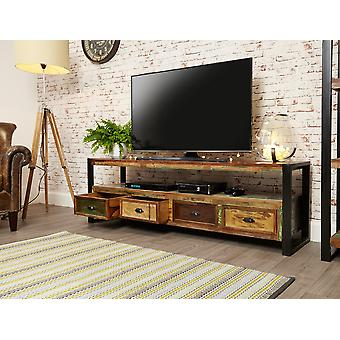 Urban Chic Open Widescreen Television Cabinet Brown - Baumhaus