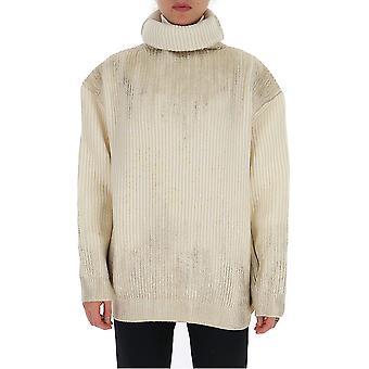 Ann Demeulemeester 19022614265003 Donne's Maglione di lana bianca