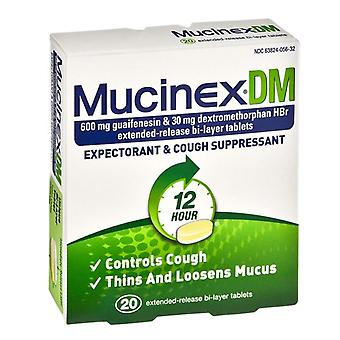 Mucinex dm expectorant & cough suppressant, 12 hour, tablets, 20 ea