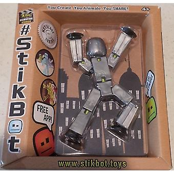 Stikbot Figure Grey Solid Colour