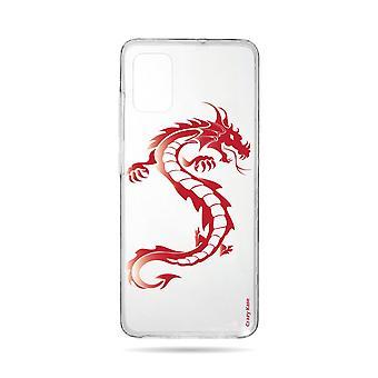 Runko Samsung Galaxy A71 Pehmeä punainen lohikäärme