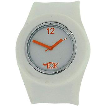 TOC Unisex Jenter Gutter Kvarts Analog Hvit Silikon Slap Watch TOC157