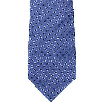 Michelsons van Londen Ring ter plaatse zijden stropdas - blauw