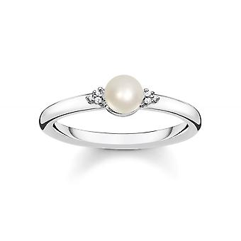 Thomas Sabo Vintage Diamond & Pearl Ring