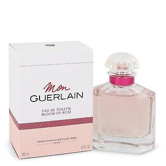 Mon Guerlain Bloom Of Rose Eau De Toilette Spray By Guerlain 3.3 oz Eau De Toilette Spray
