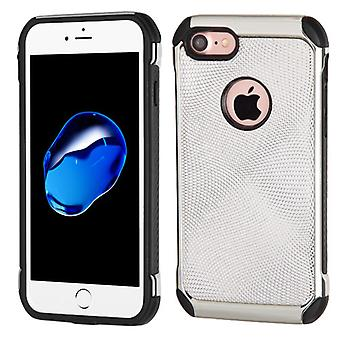 Asmyna Astronoot Case voor iPhone SE2/8/7 - Silver Dots (Silver Plating)/Zwart