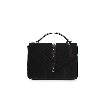 MARC ELLIS KASSIDY BLACK VELVET SHOULDER BAG