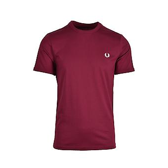 Fred Perry Ringer T-shirt Tawny Port