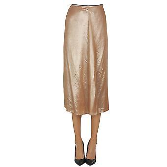 Luna Bi Ezgl526001 Women's Pink Silk Skirt