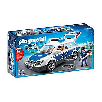 Carro com Light and Sound City Action Police Playmobil 6920 Branco