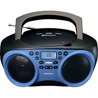 Lenco SCD-501 Radio CD-spelare FM AUX, Bluetooth, CD, USB Blue, Svart