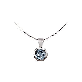 Jacques Lemans - Sterling Silver Necklace with Sky Blue Topaz - SE-C101C