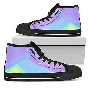 High Top Shoes | Pastel Blocks (Black)