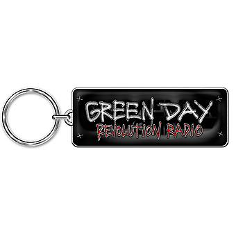 Green Day Keyring Keychain Revolution Radio Band Logo new Official Metal