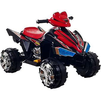 Ride On Toy Quad, Battery Powered ATV 4 Wheeler With Sound Effects and Headlights (Black)