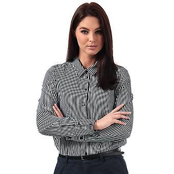 Mujer's Vero Moda Nicky Camisa de rayas en blanco