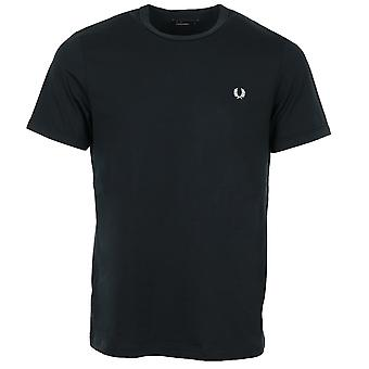 Fred Perry Ringer Blaues T-shirt
